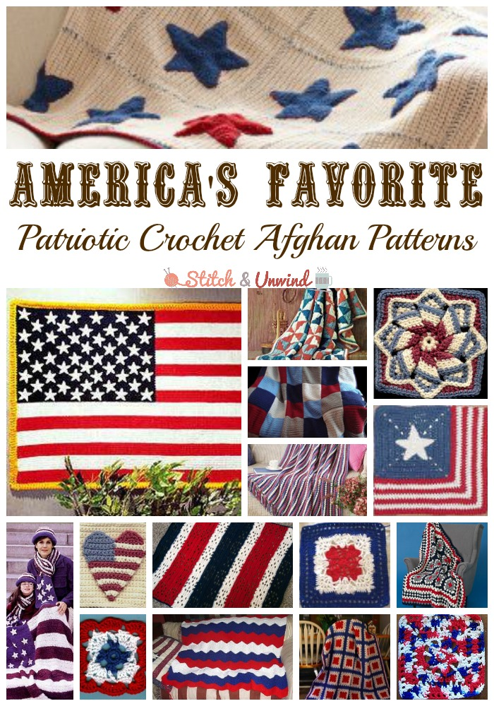 20 Of Americas Favorite Patriotic Crochet Afghan Patterns Granny