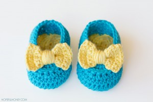 Lemon Drop Baby Booties