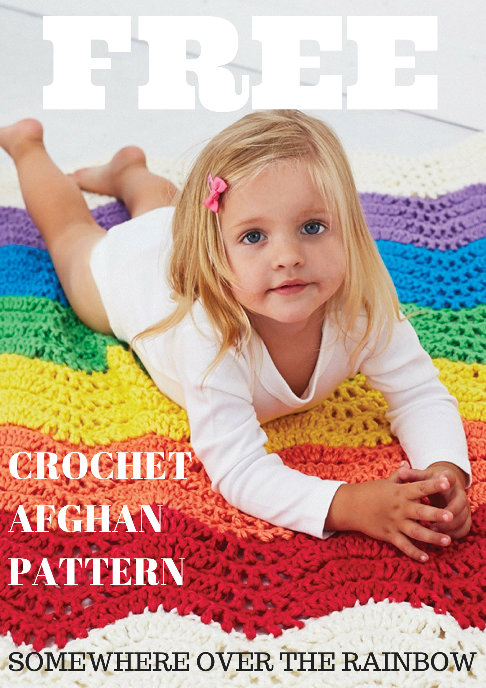Somewhere Over the Rainbow Ripple Crochet Baby Blanket - Stitch and ...