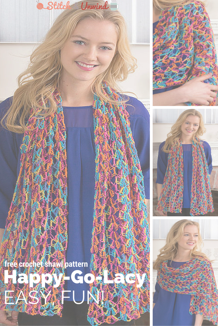 Happy-Go-Lacy Crochet Shawl Pattern - Stitch and Unwind