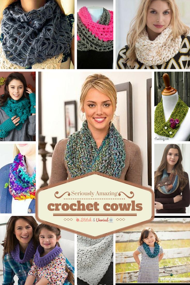 11 Seriously Amazing Crochet Cowl Patterns & BONUS GIVEAWAY - Stitch ...