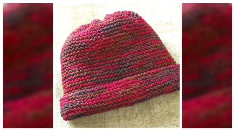 Knitting Lifeline Garter Stitch : Grandma s favorite knit garter stitch hat pattern