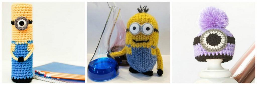 Minions Free Crochet Patterns Bonus Knit Patterns Stitch And Unwind