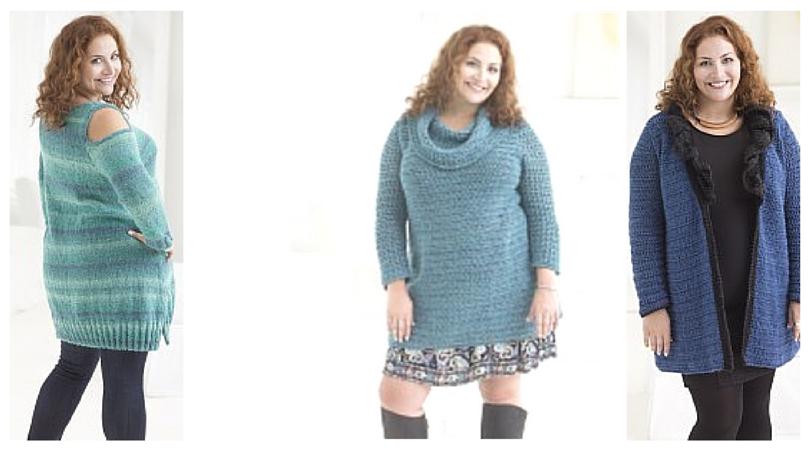 New Lion Brand Patterns Plus Size Crochet Knit Patterns Stitch