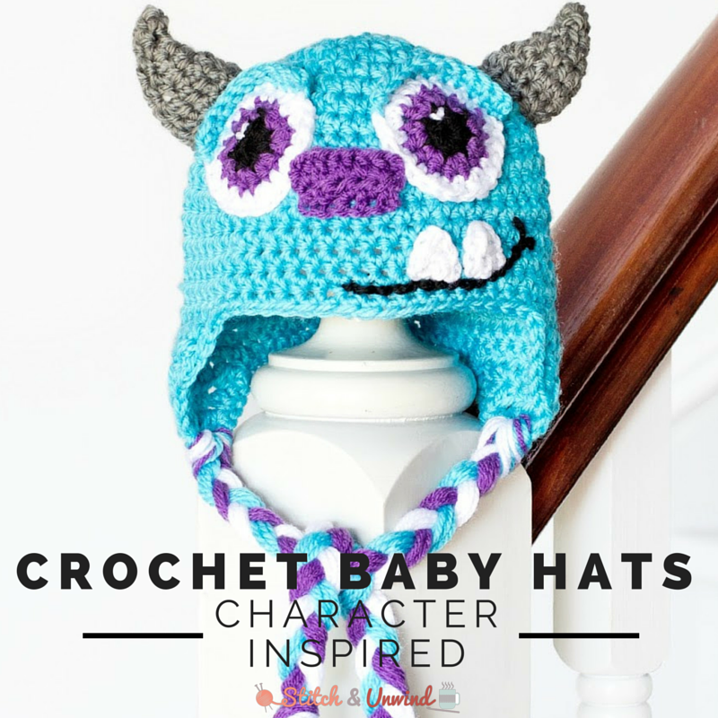 13 Character Inspired Crochet Baby Hat Patterns
