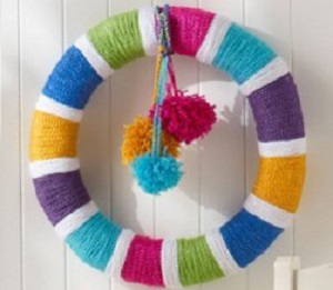 Summer Crochet Wreath