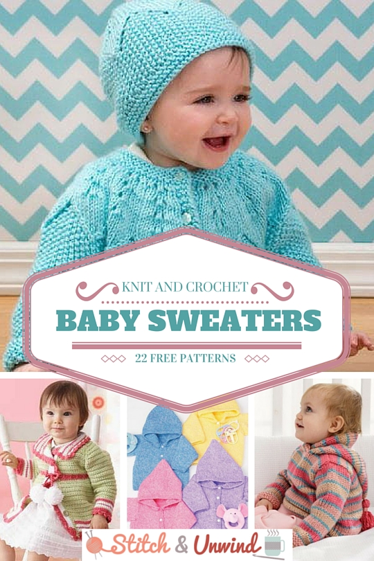 Knit and Crochet Baby Sweaters