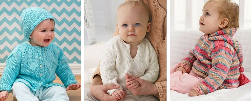 71f6a81c5 Knit and Crochet Baby Sweaters  22 Free Patterns - Stitch and Unwind