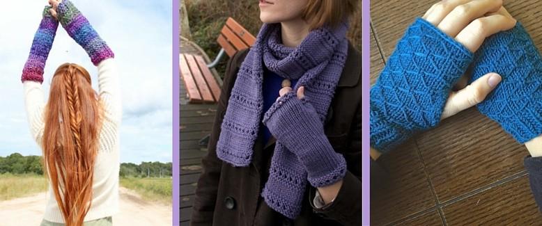 Knit Fingerless Gloves: 16 Free Patterns