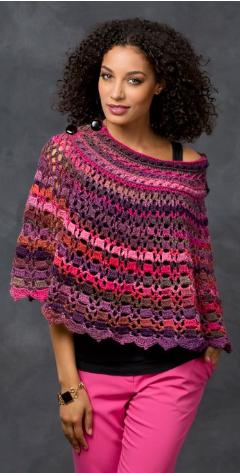Dubonnet Crochet Poncho