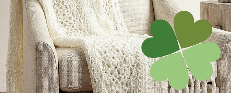 Free Pattern Friday Irish Lace Afghan From Yarnspirations Stitch