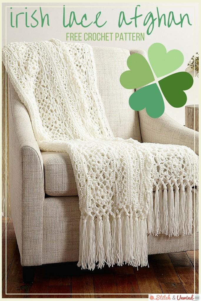 Free Pattern: Irish Lace Afghan from Yarnspirations - Stitch and Unwind