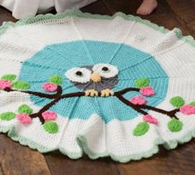 Cutie Owl Round Crochet Pattern