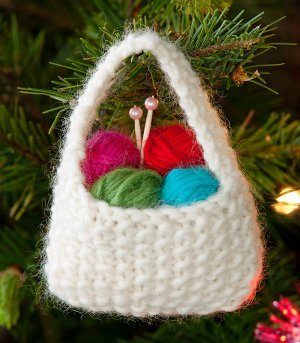 Knit Yarn Ornament