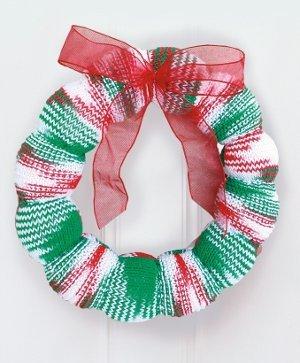 Season's Greetings Knitted Wreath