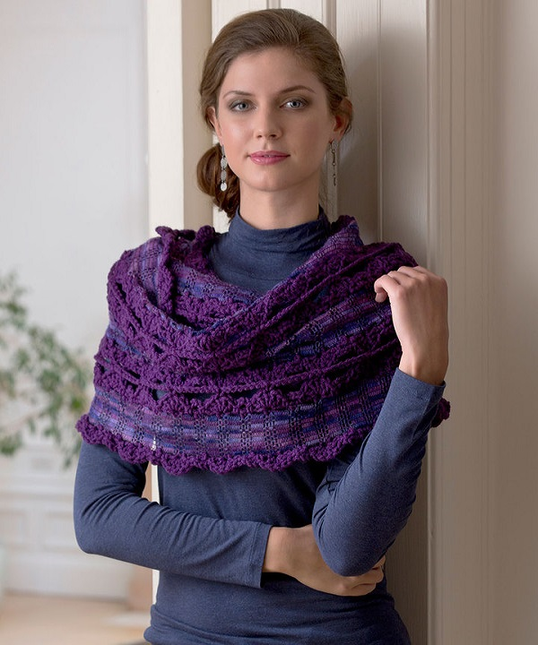 Violet Twilight Shawl