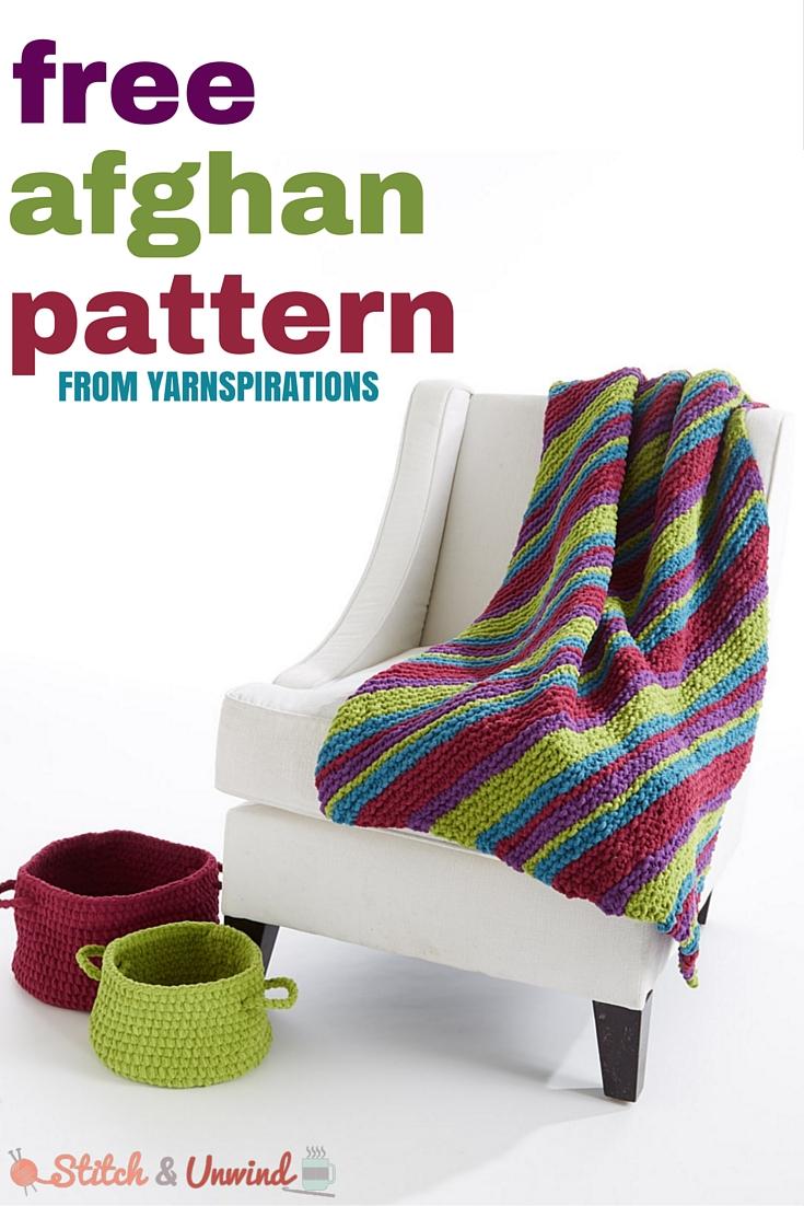 free knit afghan pattern