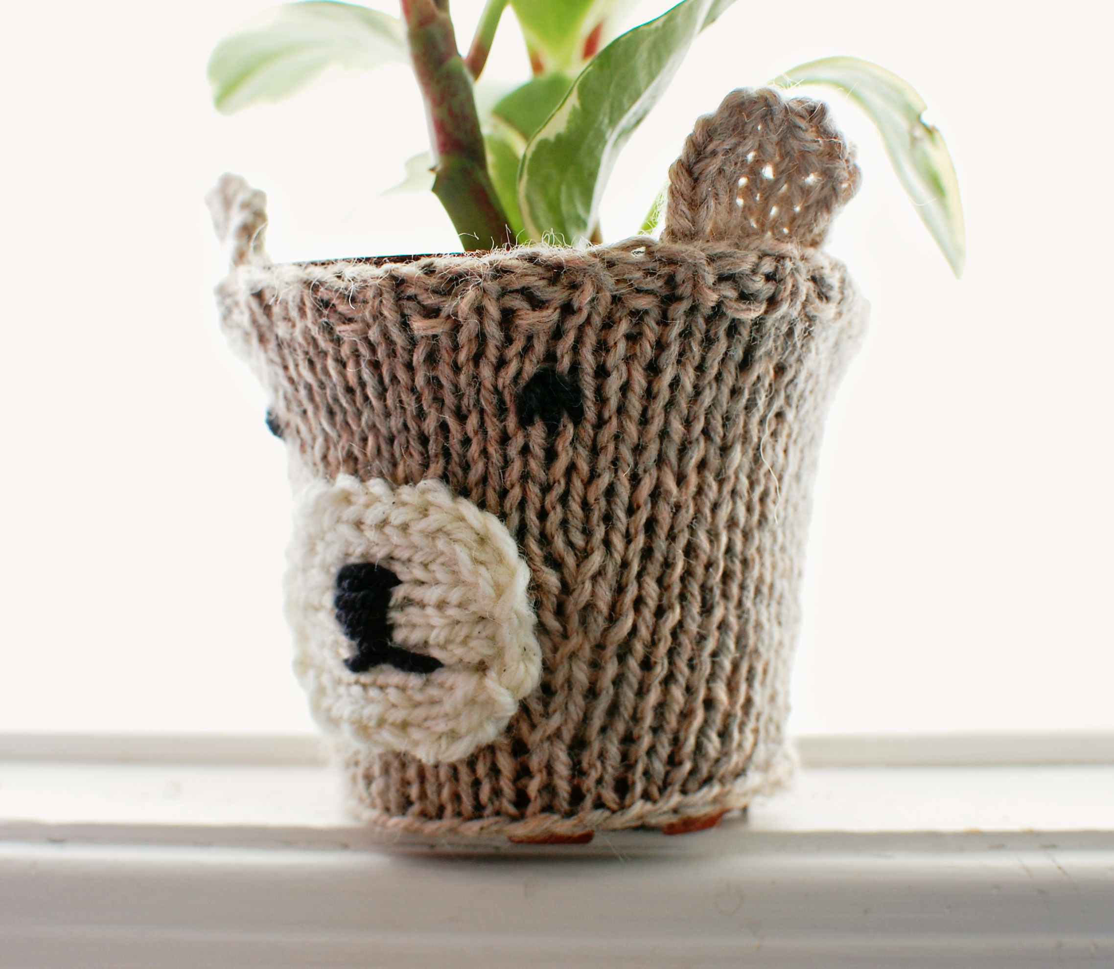 Knitted Bear Pot Cozy