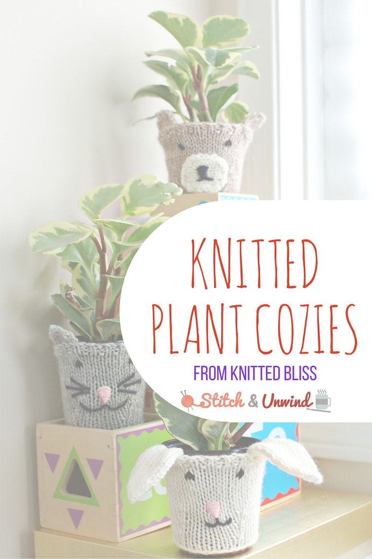 Knitted Plant Cozies for Spring