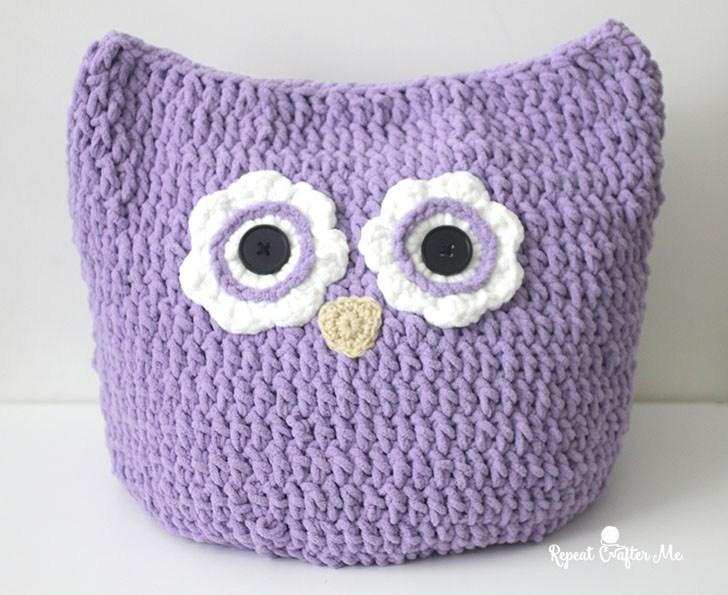 Crochet Owl Pillow Pattern