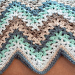 V Stitch Crochet Ripple Afghan
