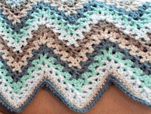 V Stitch Crochet Ripple Afghan