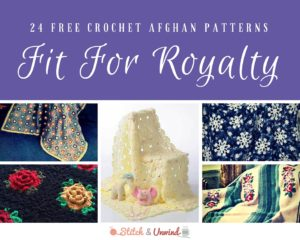 24 Free Crochet Afghan Patterns Fit For Royalty