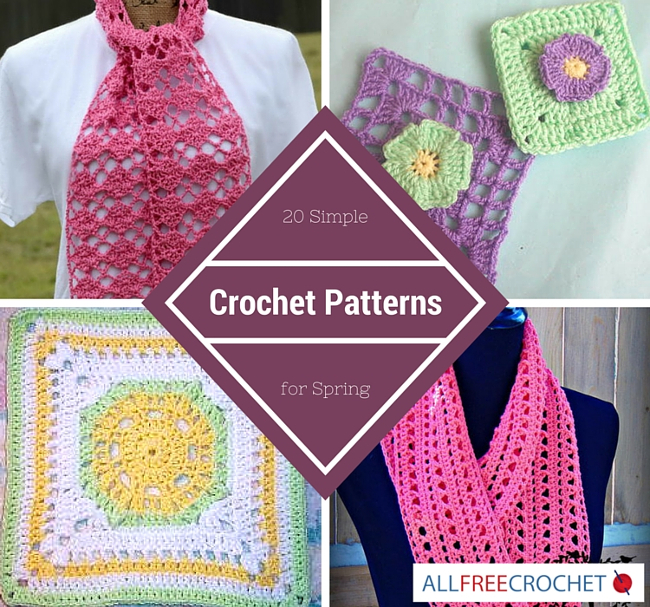 20 Simple Crochet Patternsfor Spring