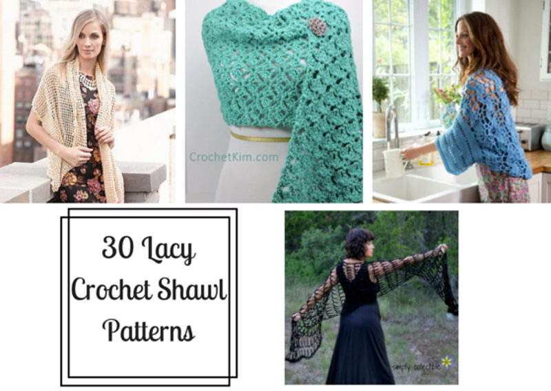 30 Lacy Crochet Shawl Pattern