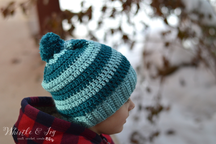 Schoolyard Pom-pom Hat Crochet Pattern - Stitch and Unwind ae597401f65