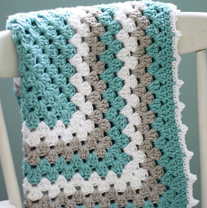 Sea Spray Granny Baby Blanket