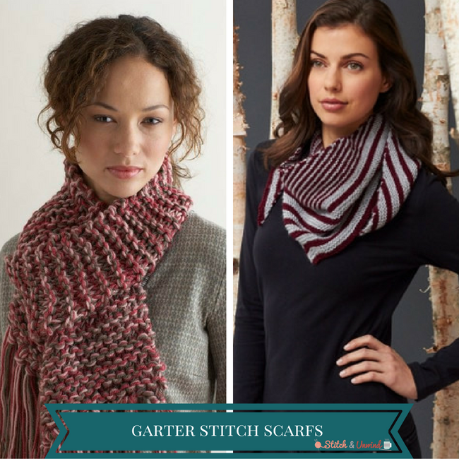 Learn Garter Stitch with 13 Easy Scarf Knitting Patterns - Stitch ...
