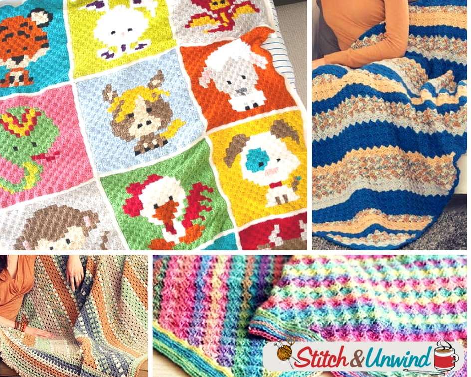 14 Corner To Corner Crochet Blanket Patterns Stitch And Unwind