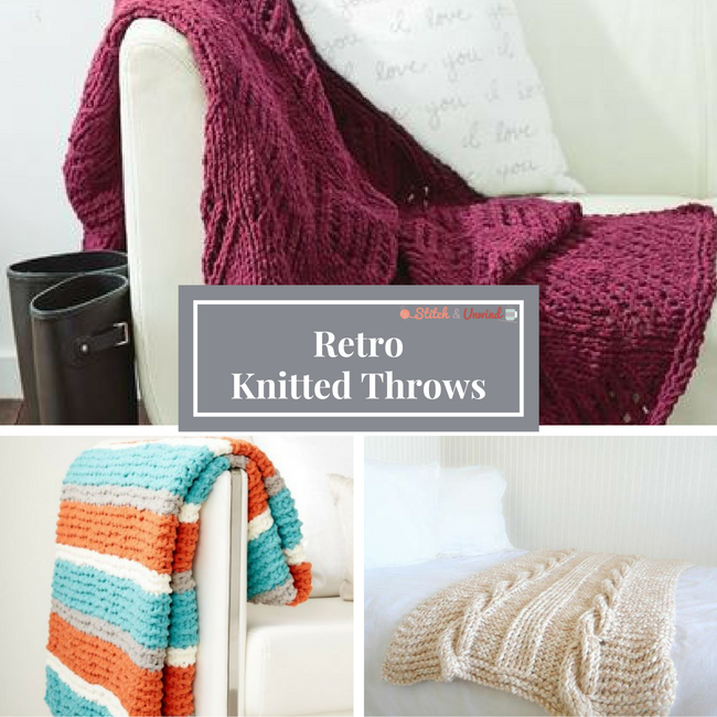 Retro Knitted Throws