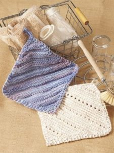 Simple Eyelet Dishcloth
