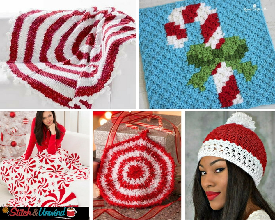 19 Favorite Peppermint Patterns For The Holidays Stitch And Unwind