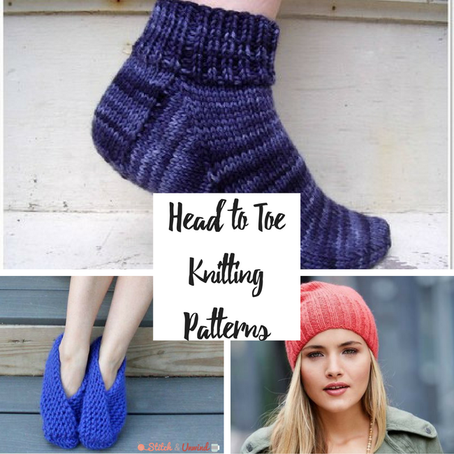 Head to Toe: Free Knitting Patterns for Beginners