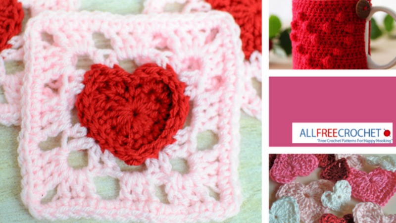 17 Easy Crochet Patterns For Last Minute Valentines Day Gifts