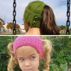 Accidental Genius + 9 Ponytail Free Knit Hat Patterns