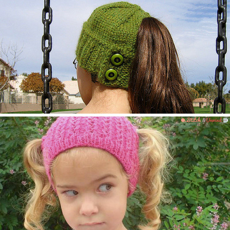 Knitting Lifeline After The Fact : Accidental genius ponytail free knit hat patterns