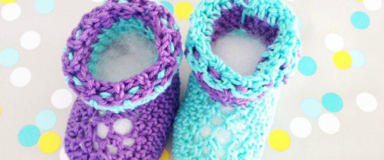 Crocheted Newborn Booties – Free Pattern