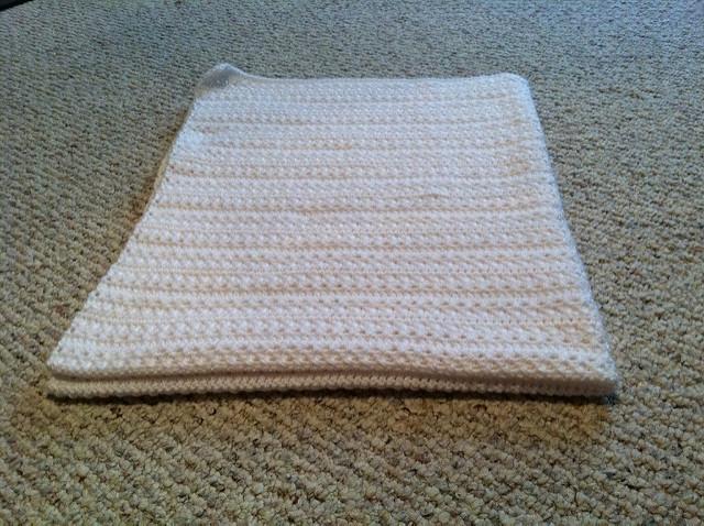 Criss-Cross Crochet Baby Blanket - Stitch and Unwind