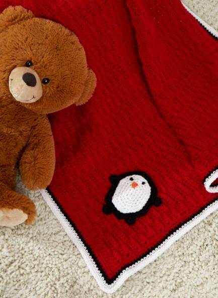 Playful Penguin Easy Crochet Blanket