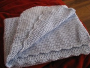 Scalloped Baby Blanket
