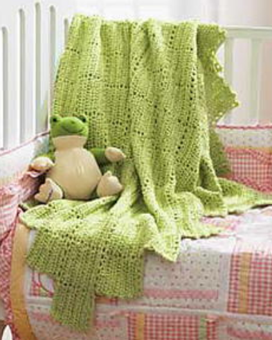 Chunky Lace Baby Blanket