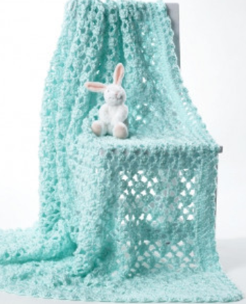 Lacy Eyelet Crochet Baby Blanket