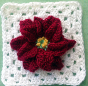 Magic Poinsettia Granny Square Pattern