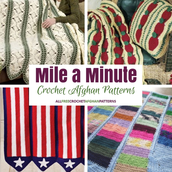 Mile a Minute Crochet: 7 Crochet Afghan Patterns - Stitch and Unwind