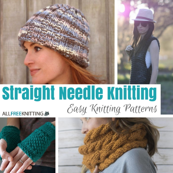 Straight Needle Knitting 30 Easy Knitting Patterns Stitch And Unwind