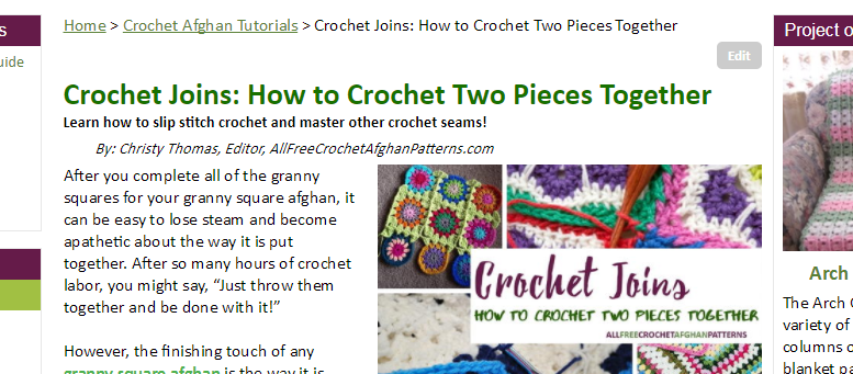 Crochet Joins How to Crochet Two Pieces Together